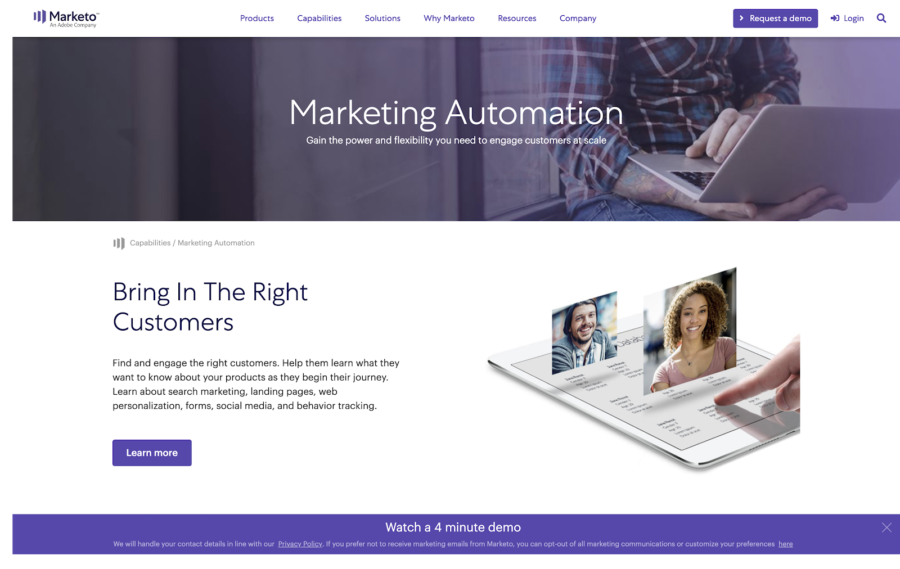 Marketo marketing automation software