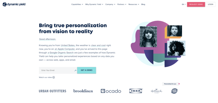 Dynamic Yield Website Personalization Tools