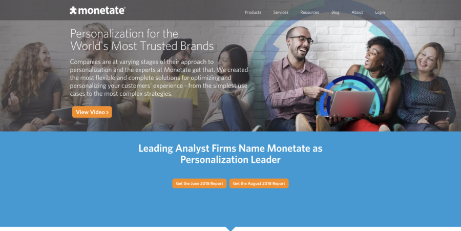 monetate website personalization tools