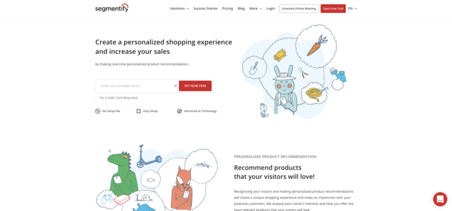 Segmentify Website Personalization Tools