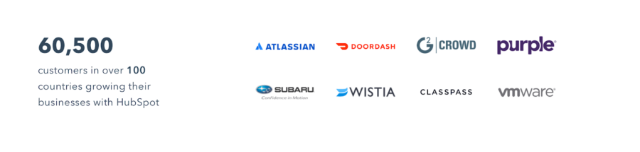 HubSpot customer logos