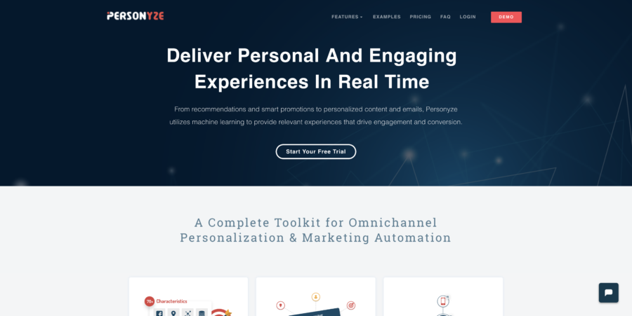 Personize website personalization tools
