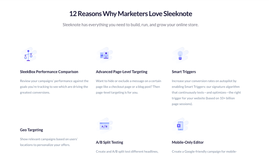 sleeknote-pricing-page