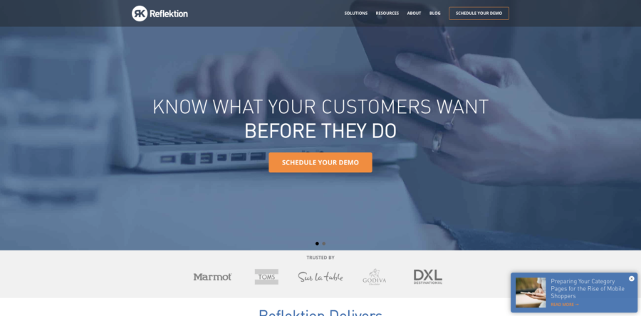 Reflektion Website Personalization Tools