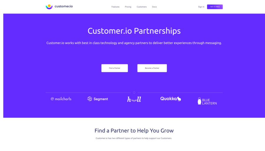 Customer.io partnerships